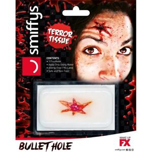 Halloween Horror Wound Transfer Bullet Hole Zombie 3D Prosthetic Special FX