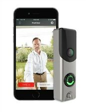 Skybell Video Doorbell Camera Slim Line for Alarm.com ADC-VDB105 Satin Nickel