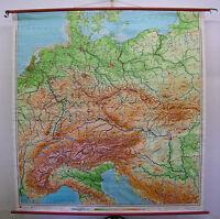 Schulwandkarte Wandkarte Karte Schulkarte Deutschland Mitteleuropa 205x213 1980
