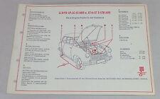 Shell Schmierplan für Lloyd LP / LC / LS 600 und LT 6 / LT 5 / LTK 600