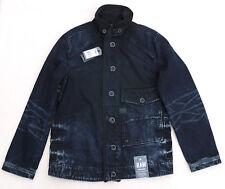 G STAR RAW Coban Rail Jacket Hydrite Denim Coat Dark Black Aged Cotton Rare Mens
