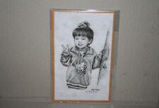 Black White Art Print Asian Girl Peace Sign Hello Kitty Style Jacket Bunthoeng