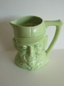DON  BRADMAN  AUSTRALIAN  CRICKET COMMEMORATIVE GREEN  TOBY  JUG  CIRCA 1930's