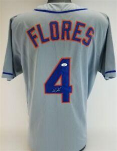 Wilmer Flores Signed Met Jersey (JSA COA) New York Infielder (2013–2018) Fan Fav