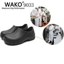 9033 Mens Chef Kitchen Cook Shoes Restaurant Safety Oil Resistant Non-Slip Black