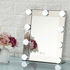 US Silver Led Bulb Vanity Lighted Hollywood Makeup with Dimmer Stage Beauty 2