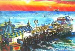 Authentic Mounted Digital Print of Cromer Pier Sunset by Ann Marie Whitton