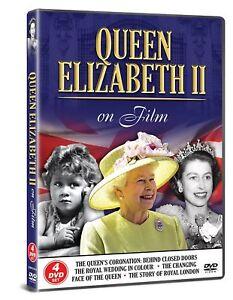 QUEEN ELIZABETH II Biography FILM - 4 DVD SET ROYAL WEDDING Life Gift idea