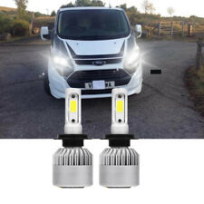 Pair Bulbs H7 LED 100W White Canbus Low Beam FOR Ford Transit Custom 2012-2018