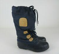 Sorel Women's Snowlion Navy Blue Tall Lined Winter Snow Boots Waterproof Size 6