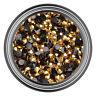 Gold Resin Rhinestone Gem - 2mm 3mm 4mm 5mm 6mm - Flat Back - Nail Art