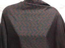 *NEW* Smooth Polyester Brown-Black Geometric Print Dress/Craft Fabric *FREE P&P*