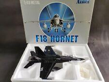 Armour F-18 Hornet US Navy Top Gun 1:48 Scale Diecast Model Airplane Black