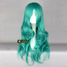 Sailor Moon Stylish Turquoise Green Curly Long Anime Cosplay Wig Heat Resistantp