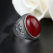Gothic Metal Ring Jewelry Gift shan Fashion Women Oval Natural Stone Ring