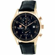 Steinhausen Men's S0919 Lugano Chronograph Leather Dress Watch