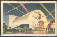 NEW YORK WORLD'S FAIR 1939 MUSIC HALL MINT POSTCARD
