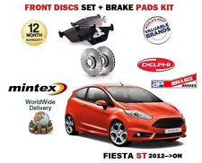 FOR FIESTA ST 1.6 182BHP 2013 > NEW FRONT BRAKE DISCS SET + DISC PADS KIT