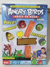 Angry Birds Knock on Wood Kids Game Mattel 2010 EUC