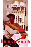 Innsbruck Tyrol Austria Vintage Travel Art Print Poster 24x36 inch