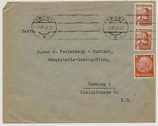 ÖSTERREICH 1938 AUSLANDSBRIEF, WIEN nach HAMBURG (Deutschland) M.i.F.