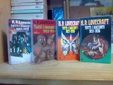 H.P. Lovecraft - TUTTI I RACCONTI - completo in 4 volumi - 1989 / 1993