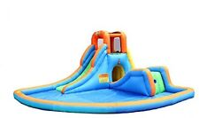 Bounceland Inflatable Cascade Water Slide with Pool Course Park House Play Parks