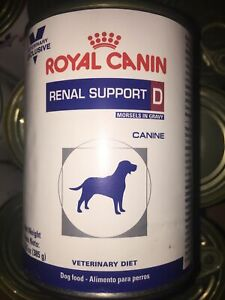 Royal Canin Renal Support D Morsels In Gravy Dog Wet Food 12 Cans