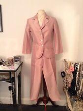 H&M Women 2 Piece Pink Silk Pants Suit SZ 4