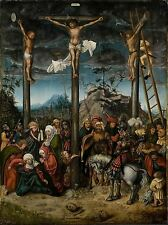 PRINT PAINTING OLD MASTER CRUCIFIXION CRANACH CHRIST EXECUTION GERMANY NOFL0805
