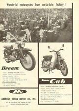 "1960 Honda Dream & Super Cub 11"" x 14"" Matted Vintage Motorcycle Ad Art"