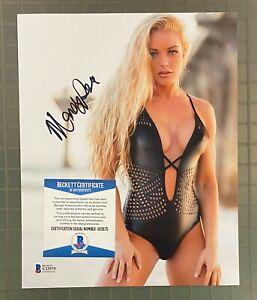 Mandy Rose WWE Signed 8x10 Photo Autograph Beckett BAS COA