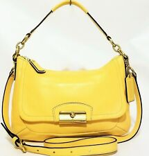 Coach Kristen Buttercup Yellow Leather East West Cross Body Purse Bag F22308