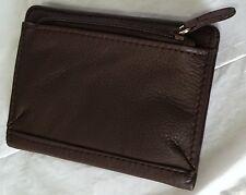 Rolfs Ladies Bi-Fold Zip Back Snap Closure Leather Wallet Organizer Brown