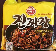 Ottogi - Jin Ramen Black Bean Ramen - Jjajang Ramen - Korean Noodles - 4 X 135g