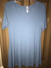 Blue LuLaRoe size small womens short sleeve dress