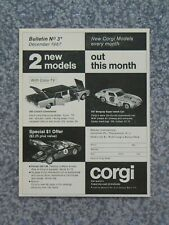 Vintage 1967 Corgi Lincoln Continental Corvette Ferrari Advertisement