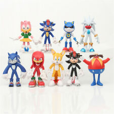 Sonic The Hedgehog Knuckles Tails 9 PCS Movie Action Figure Toy Gift For Kids