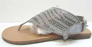 Madden Girl Size 9 Silver  Sandals New Womens Shoes