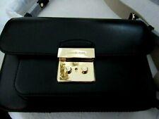 Michael Kors Women's Sloan Editor Shoulder Bag Leather Black NEW MSRP $298.00
