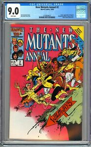 NEW MUTANTS ANNUAL #2 - CGC 9.0 - WP - VF/NM 1ST PSYLOCKE ELIZABETH BRADDOCK