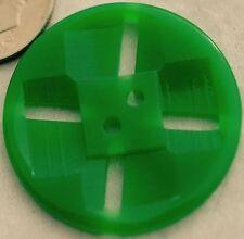 """GR175/  8 VINTAGE GREEN PLASTIC DOUBLE CUT BUTTONS 1 1/8"""" QUANTITY DISCOUNT"""