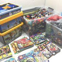 Lego Mixed Bulk 70 lb Lot - Minifigures, Chima, Ninjago, Super Heroes, Atlantis
