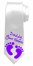 NEW DAD PERSONALISED NECK TIE *ANY NAME/TEXT COLOUR * GREAT DADDY GIFT/PRESENT*