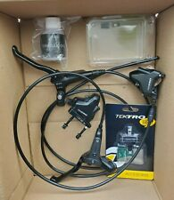 Tektro Hd-R280 hydraulic disc brake set front + rear for flat mount hybrid bike.