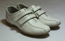 White Leather Shoes Casual Flats Strap detail BNIB Golf Euro size 36 #156