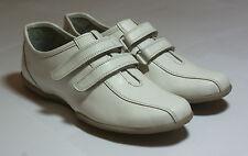 white leather shoes casual flats riemen bnib golf euro gr. 36 #156