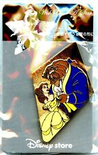 Disney Store Japan Beauty & The Beast Wish Upon A Star Pin (New, On Card)