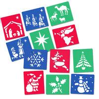 Major Brushes Washable & Flexible Stencil Set of 6 - Christmas or Nativity Theme