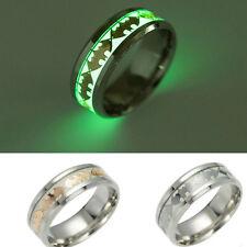 Titanium Steel Luminous Batman Ring Men Women  Knuckle Rings Personality Jewelry